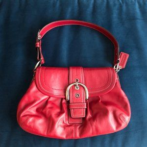 Coach Red Leather Soho Buckle Purse